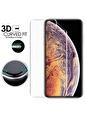 Microsonic iPhone XS Max (6.5'') Ön + Arka Kavisler Dahil Tam Ekran Kaplayıcı Film Renksiz